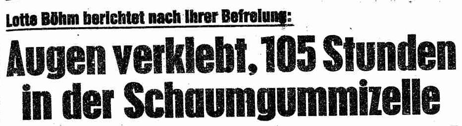 """""""Die Angst der Reichen"""": Der vergessene Entführungsfall Böhm vor 40Jahren"""