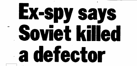 Der Spion, der niemalszurückkam