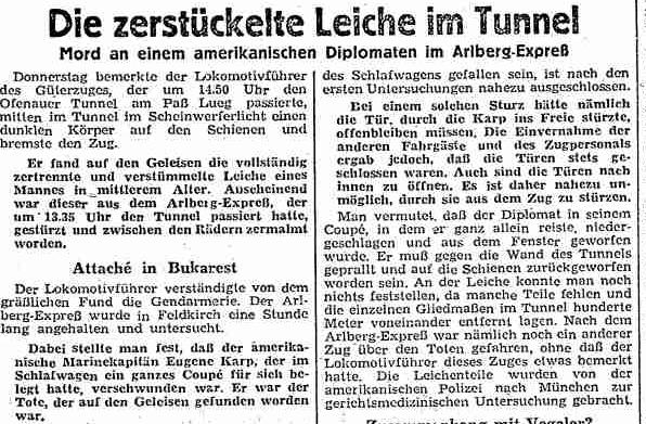 Mord im Arlbergexpress?