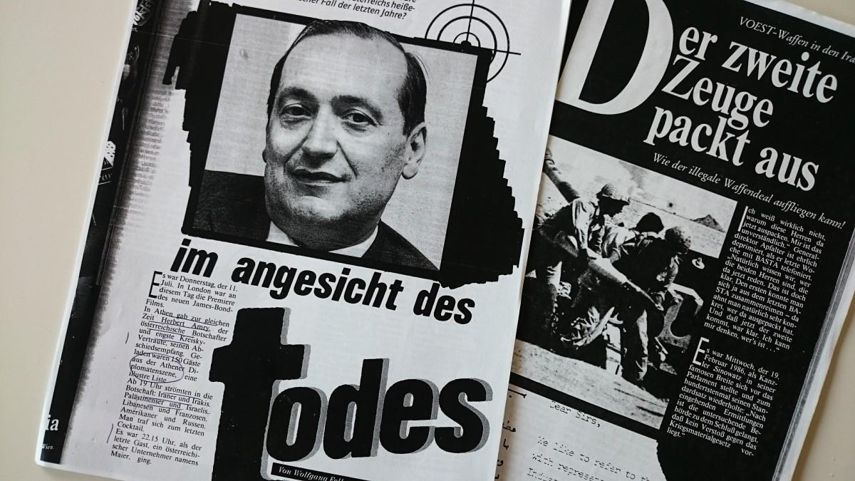 """""""Dem größten illegalen Waffengeschäft seit 1945 auf derSpur"""""""